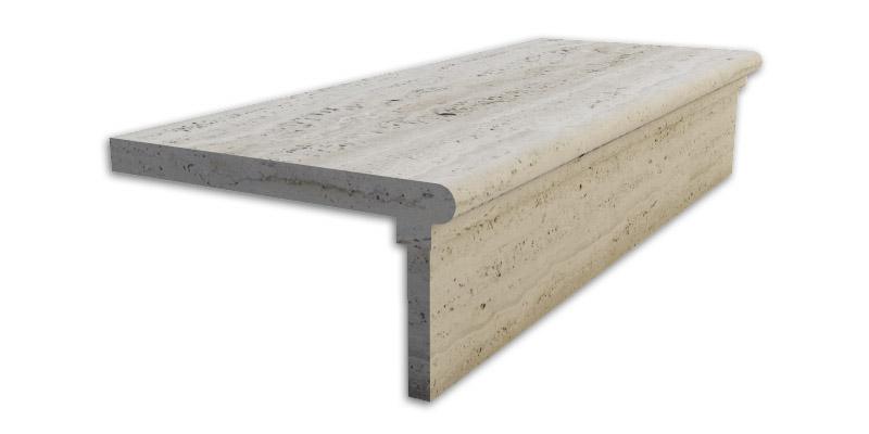 scala in marmo con listello incollato