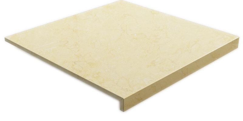 Bordo marmo incollato 45°