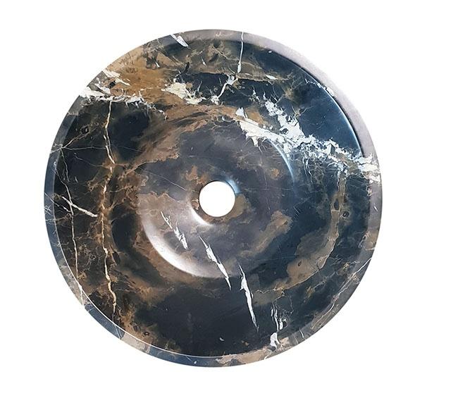 Lavello in marmo nero oro for Lavello nero